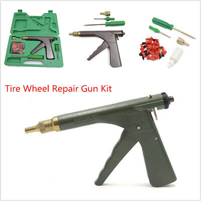 Motorcycle Dirt Bike Tire Plugger Tubeless Wheel Repair Gun Kit With Rubber Plug