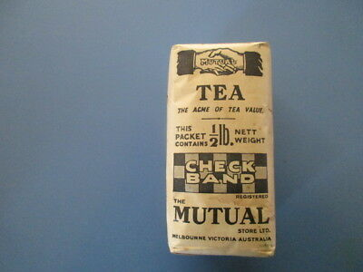 Vintage Full Unopened Half Pound Packet Of The Mutual Store Ltd Tea Melbourne