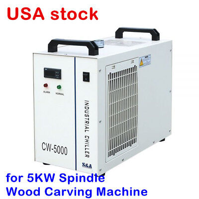 US-110V S&A CW-5000DS Industrial Water Chiller for 5KW Spindle / Wood Carving
