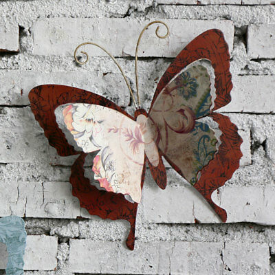 Home Garden Patio Decorative Metal Butterfly Wings Wall Art Ornament
