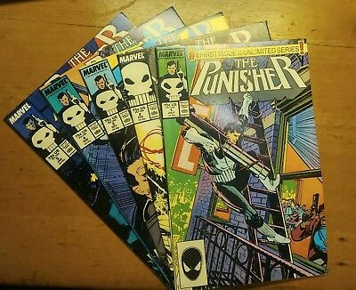 The Punisher Issues 1-5 (July 1987-Jan 1988, Marvel)