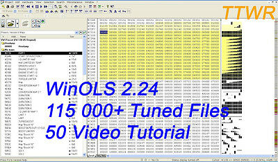 WinOls 2.24 + ECM Titanium + 115k Tuning FILES + 5k ORI FILES+ 50 video guide