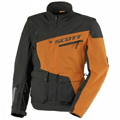 SCOTT 350 Enduro Offroad Motorrad Motocross Jacke 2017 in black/ktm-orange Gr.L
