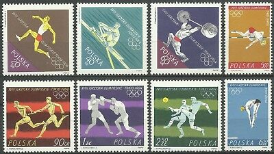 Poland Sport Tokyo Olympics Games Boxing Soccer Weightlifting Athletics ** 1964