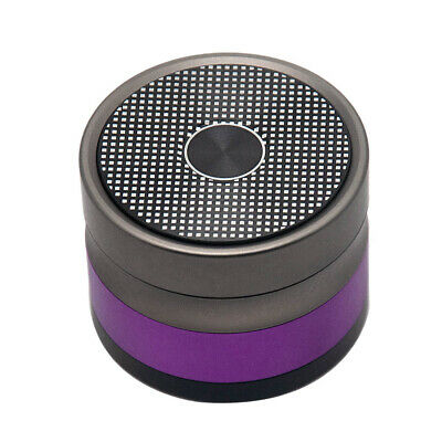 1 X HONEYPUFF 4 Layers Tobacco Herbal Grinder Aluminum Cursher&Gift Box-Gold