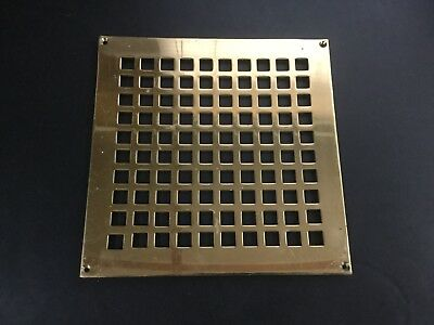 Vintage Square Brass Wall Vent Grille