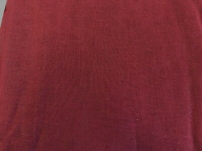Plain Maroon 100% Cotton Voile Lawn Lining Fabric Per Metre Clearance