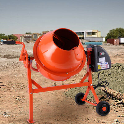 Portable Electric Cement Mixer Concrete Motar 2-1/5cuft Drum Construction
