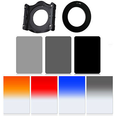 ZOMEI 150mm*100mm Square ND2+4+8 filter kit+Holder+Ring for Cokin Z-Pro LEE