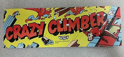 Crazy Climber marquee sticker. 3.5 x 10.5 (Buy any 3 stickers, GET ONE FREE!)