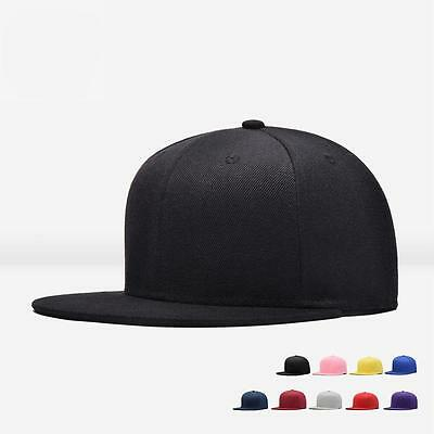 Men Blank Plain Snapback Hats Unisex Hip-Hop Adjustable Bboy Baseball Caps DA