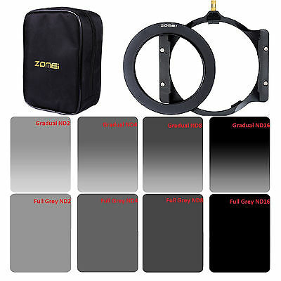 ZOMEI 4x6in ND Filter Kit ND2+ND4+ND8+ND16+72mm Adapter Ring+Holder for Cokin Z