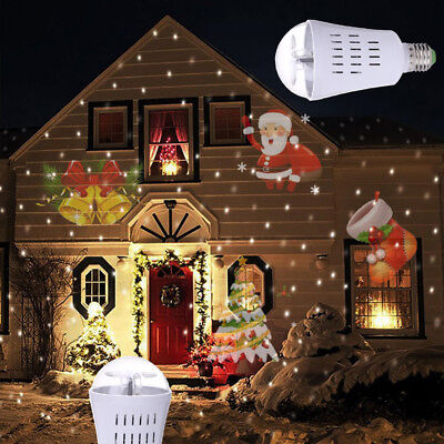 Outdoor Lighting Laser Projector Garden House E27 LED bulbs Xmas Party Light