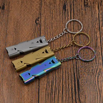 1 Pc Safety Emergency Outdoor Survival Whistle Double Tube Pet Trainer Pocket