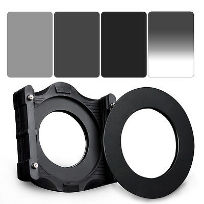 ZOMEI 150*100mm ND2+ND4+ND8 Square filter kit+Holder+77mm Ring for Cokin Z