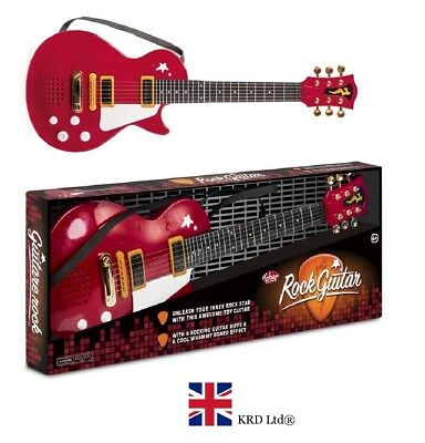 ROCK GUITAR Musical Instrument Kids Birthday Gift 6 STRINGS + ELECTRONIC SOUNDS