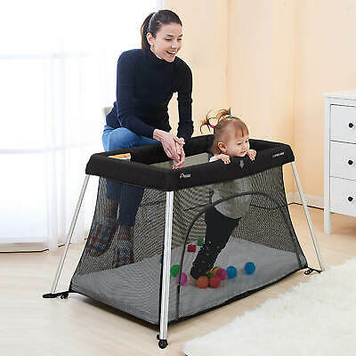 Star Kidz Amico Plus Light Travel Cot Portacot - Black