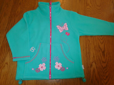 BNWT girls green fleece jacket. Butterfly detail. 3-4 years. JPW junior