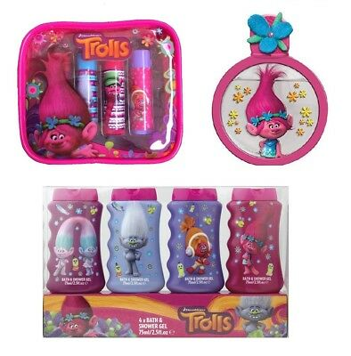 Dreamworks Trolls Kids Perfume, Bath Set & Lip Balm Gift Set Multipack Bundle