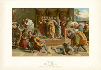 1890 Bible Master Painting #122 Death of Ananias