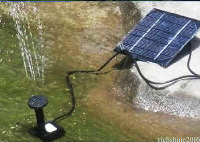 Solar Power Water Pump Panel Submersible Fountain Pond Kit Garden Watering FHOZ9