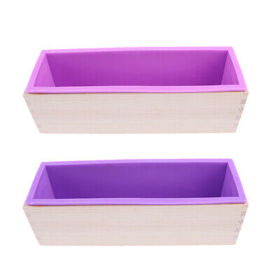 Loaf Soap Mold Silicone DIY Cold Processing Tools Baking Toast with Tray Box