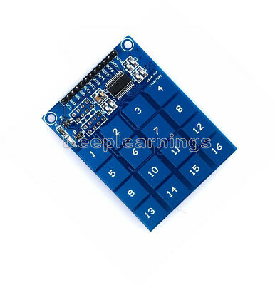 5 PCS Arduino TTP229 16 Channel Digital Capacitive Switch Touch Sensor Module