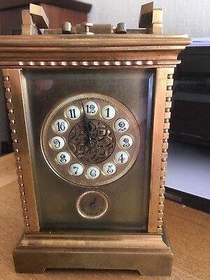 Gilt Brass Case Petit Sonnerie Carriage Clock, Camerden & Forster (original)