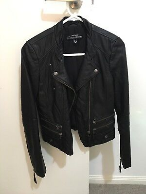 Just Jeans Leather Jacket Size 6