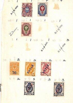 SA38 RUSSIA inc PO in China Overprints Original album page from  collection