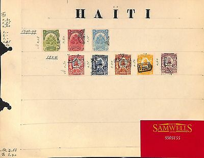 SS3155 1898-1904 HAITI. Original album page from old-time collection