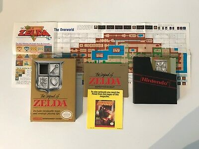 THE LEGEND OF ZELDA nintendo nes BOXED/COMPLETE usa version !!