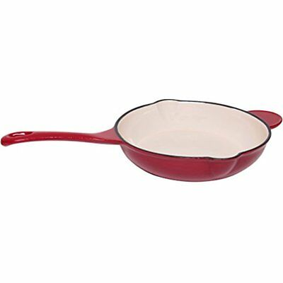 All Pans JMiles UH-CI255 Cast Iron Enameled 10 Inch Skillet With Spout And Dual