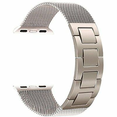 HOT Milanese Mesh Loop / Hand Removal Links Band For 42mm 1/2 Apple Watch Gold