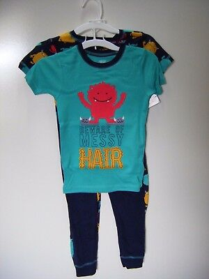 Carter's Just One You 4-Piece Messy Hair Monster Boys Snug Fit Pajama Set