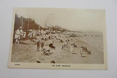 Vintage Real Photo Postcard Of The Sands Weymouth
