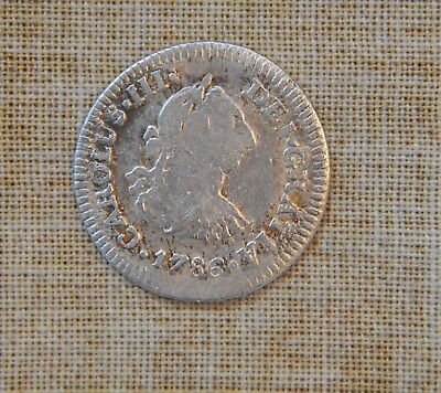 1786 Ff- 1/2 Real - Carlos Iii - Cleaned - Very Good Details - Silver - Km # 69