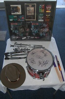 """Ultimate Reo Speedwagon Autographed Collection """"session Used Drum"""" + Rare Items"""