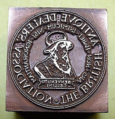 """Antique Dealers Association"" Printing Block."