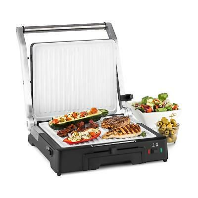 Klarstein Contact Grill Non stick BBQ Table Grill Roast Chicken Fish 2000W LED