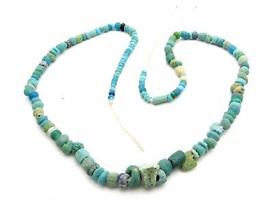 Ancient Glass Beaded Necklace - Very Rare Wearable Artifact Fantastic - M679