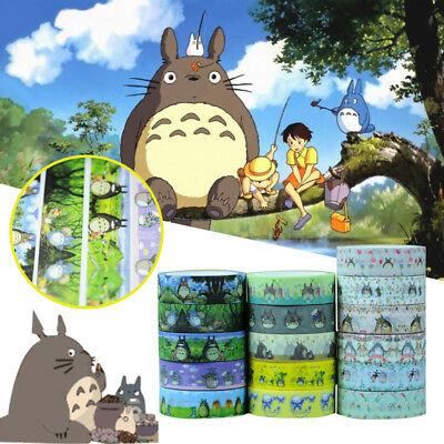 Cartoon My Neighbor Totoro Japanese Washi Adhesive Stationery School Craft Tape