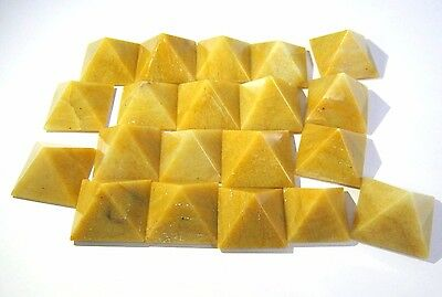 Ten Yellow Jasper Loose Bagua Crystal Healing Feng Shui Energy Peace Reiki