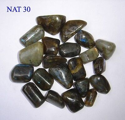 400 Grams Labradorite Tumbled Stones Home Office Gift Crystal Healing Feng Shui