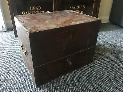 antique wooden box found in barn In France , dovetail joints
