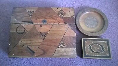 wooden drawing box decorative box plate and fountain nib set
