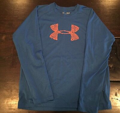 Under Armour youth boys Large blue long sleeve loose fit shirt