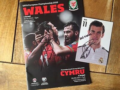 Gareth Bale Signed Official Programme and Photo