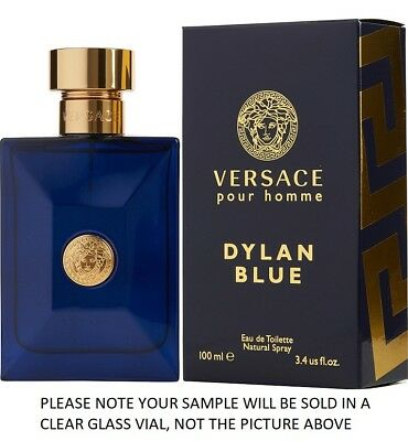Dylan Blue by Versace EDT Mens Cologne Fragrance 2ml, 5ml, 10ml