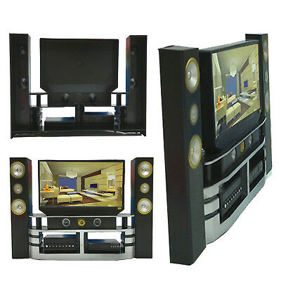 Hi-Fi TV Cabinet Set Combo For Blythe Barbie Doll's Living Room Furniture WOW